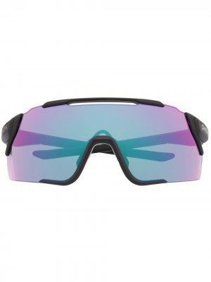 Солнцезащитные очки с зеркальными линзами Smith. Цвет: черный