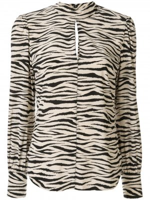 Блузка Marina с зебровым принтом A.L.C.. Цвет: белый
