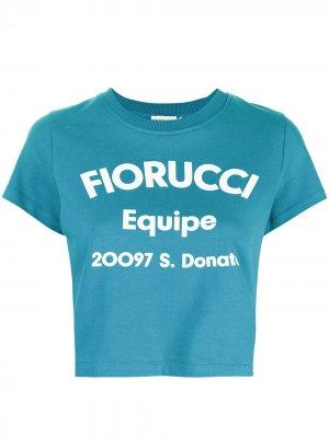 Футболка Equipe с логотипом Fiorucci. Цвет: синий