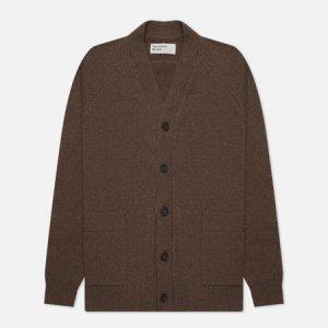 Мужской кардиган Vince Recycled Wool Universal Works. Цвет: коричневый