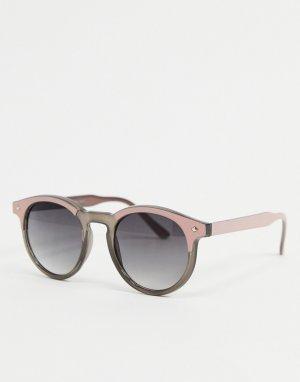 Серые круглые солнцезащитные очки -Серый AJ Morgan