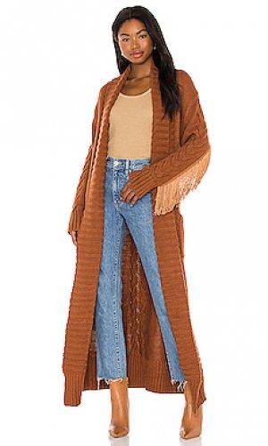 Кардиган rodeo Understated Leather. Цвет: коричневый
