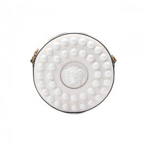 Сумка La Medusa Versace. Цвет: белый