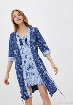 Халат и сорочка ночная Zarka Беата. Цвет: разноцветный