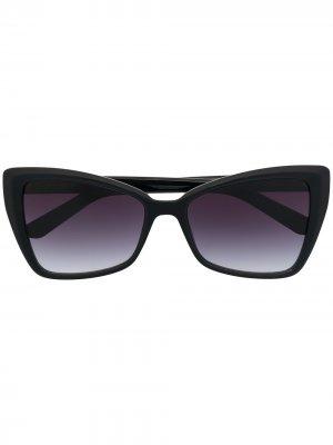 Солнцезащитные очки с эффектом градиента Karl Lagerfeld. Цвет: серый