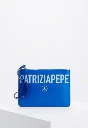 Клатч Patrizia Pepe. Цвет: синий