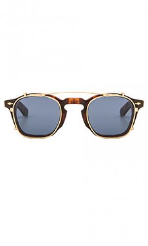 Солнцезащитные очки zephirin Jacques Marie Mage. Цвет: коричневый