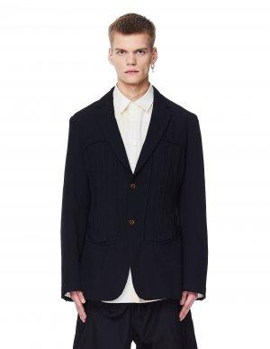 Черный приталенный пиджак Comme des Garcons Homme plus