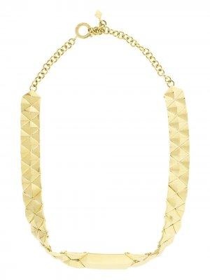 Золотое колье-чокер Cadar. Цвет: золотистый