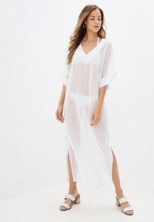 Платье пляжное Donatello Viorano. Цвет: белый