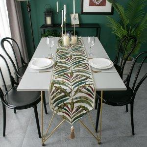Подстилка для сервировки стола с принтом листа SHEIN. Цвет: многоцветный