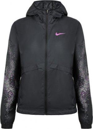 Ветровка женская Essential, размер 46-48 Nike. Цвет: черный