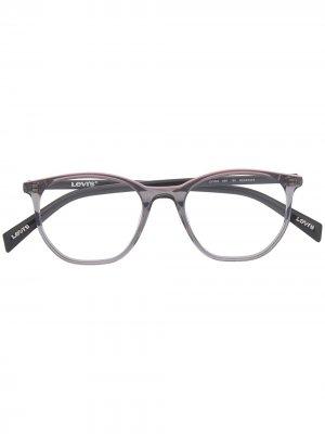 Levis солнцезащитные очки в круглой оправе Levi's. Цвет: серый