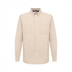 Куртка-рубашка Aspesi. Цвет: бежевый