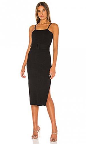 Платье миди briggitte Finders Keepers. Цвет: черный