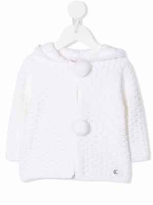Hooded crochet cardigan Paz Rodriguez. Цвет: белый
