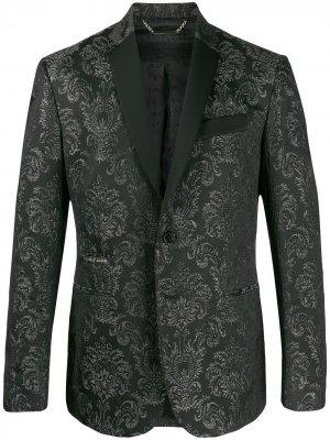 Парчовый пиджак Philipp Plein. Цвет: черный