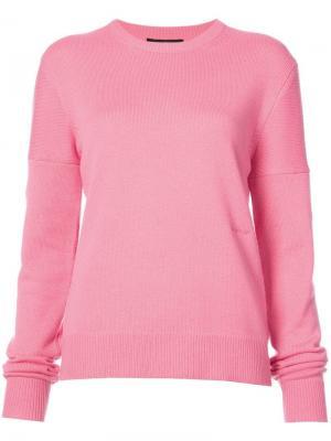 Кашемировый свитер Calvin Klein 205W39nyc. Цвет: розовый