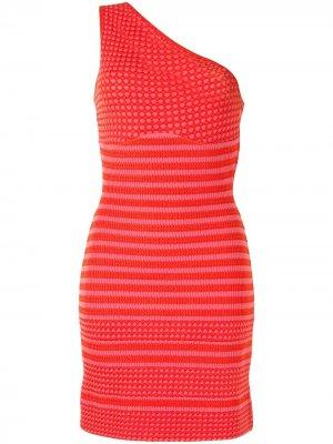 Трикотажное платье на одно плечо Christian Lacroix Pre-Owned. Цвет: розовый
