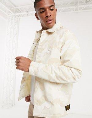 Спортивная куртка с камуфляжным принтом -Светло-бежевый Topman