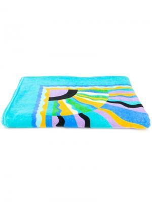 Пляжное полотенце с принтом Emilio Pucci. Цвет: синий