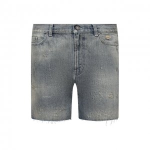 Джинсовые шорты Saint Laurent. Цвет: синий