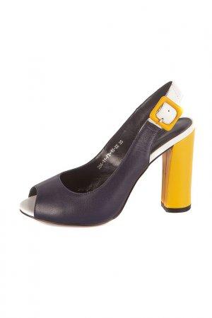 Туфли Calipso. Цвет: синий, желтый