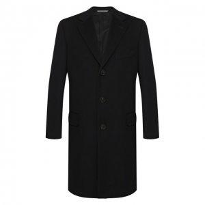 Пальто из смеси шерсти и кашемира Canali. Цвет: синий