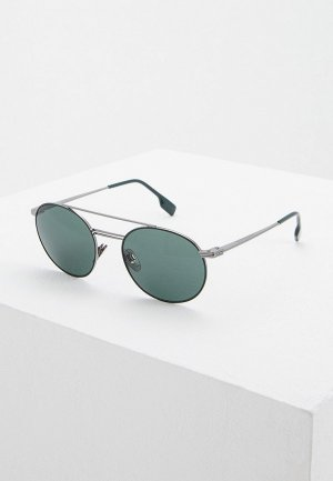 Очки солнцезащитные Burberry BE3109 100371. Цвет: серебряный