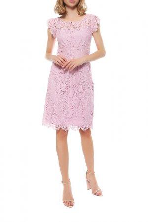 Платье Anna Rachele. Цвет: розовый
