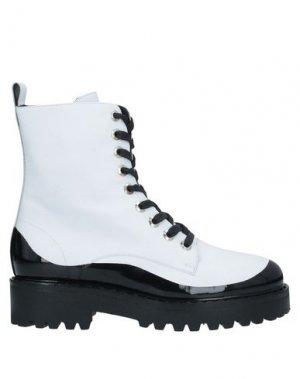 Полусапоги и высокие ботинки N°21. Цвет: белый