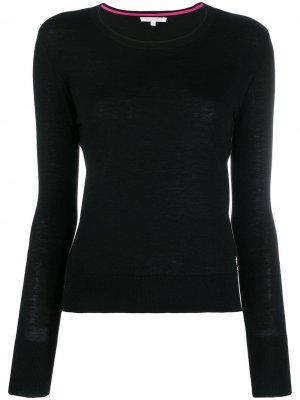 Пуловер с подвеской-логотипом Patrizia Pepe. Цвет: черный