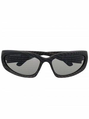 Солнцезащитные очки Swift Balenciaga Eyewear. Цвет: серый