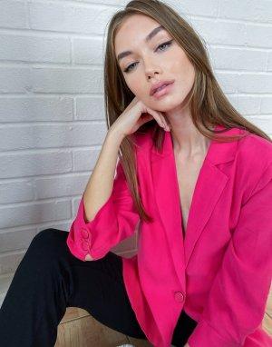 Розовый oversized-пиджак свободного кроя -Розовый цвет Kaffe