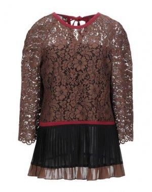 Блузка CANNELLA. Цвет: коричневый