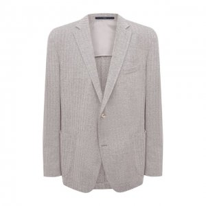 Пиджак из хлопка и льна Eduard Dressler. Цвет: бежевый