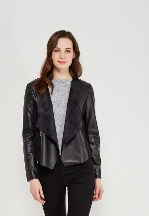 Куртка кожаная Dorothy Perkins DO005EWAJFH2. Цвет: черный