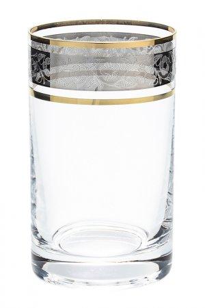 Набор стаканов, 6 шт BOHEMIA CRYSTAL. Цвет: прозрачный, золотой, платиновы