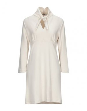 Короткое платье SANDRO FERRONE. Цвет: слоновая кость