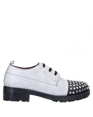 Обувь на шнурках APEPAZZA. Цвет: светло-серый
