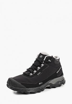 Ботинки трекинговые Salomon SHELTER SPIKES CS WP. Цвет: черный