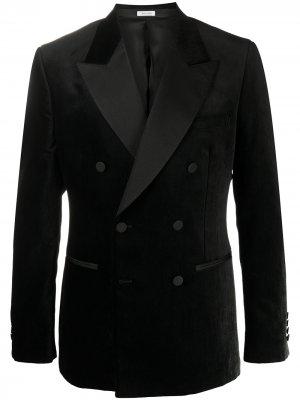 Двубортный вечерний пиджак Alexander McQueen. Цвет: черный