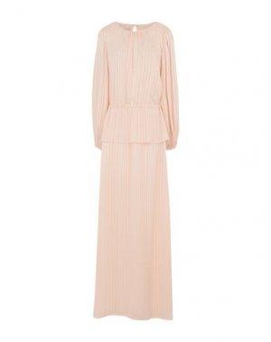 Длинное платье ICHI. Цвет: светло-розовый