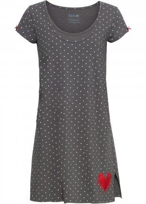 Ночная сорочка для будущих мам bonprix. Цвет: серый