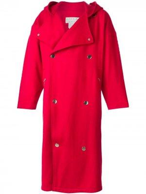 Пальто свободного кроя с капюшоном JC de Castelbajac Pre-Owned. Цвет: красный