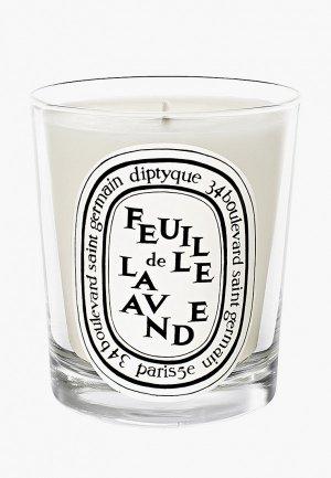 Свеча ароматическая Diptyque Feuille De Lavande/Листья Лаванды, 190 г. Цвет: белый