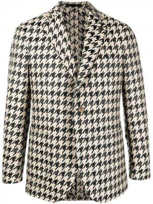 Однобортный пиджак в ломаную клетку Gabriele Pasini. Цвет: нейтральные цвета