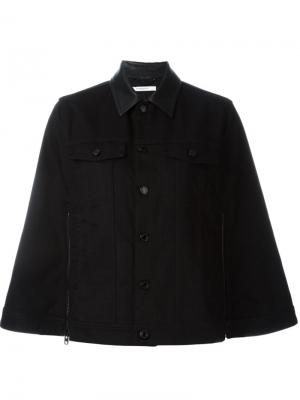 Джинсовая куртка-кейп Givenchy. Цвет: чёрный
