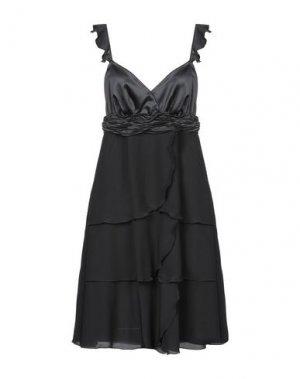 Платье до колена BURANI COLLEZIONI. Цвет: черный