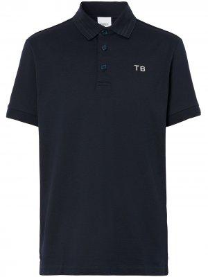 Рубашка поло с монограммой TB Burberry. Цвет: синий
